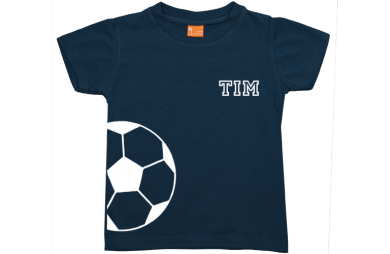 Jongens t-shirt: Halve voetbal en naam