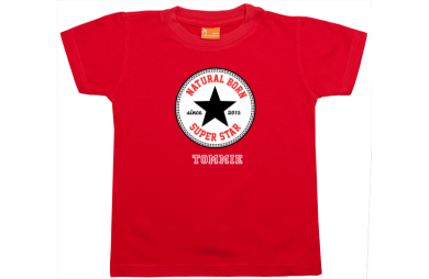 Jongens t-shirt: Natural Born Superstar