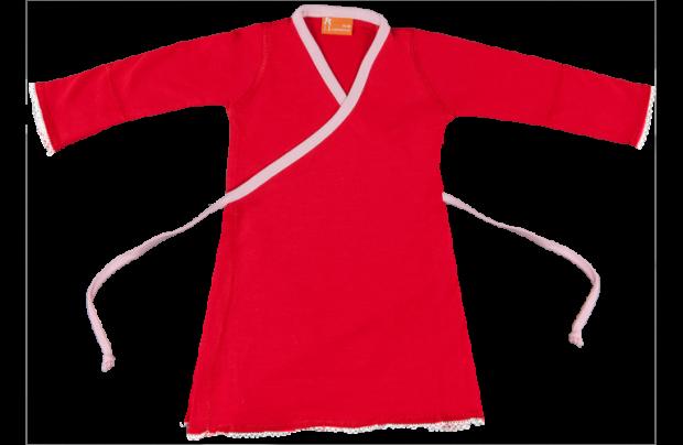 Wikkeljurkje:-Rood met roze-146-152