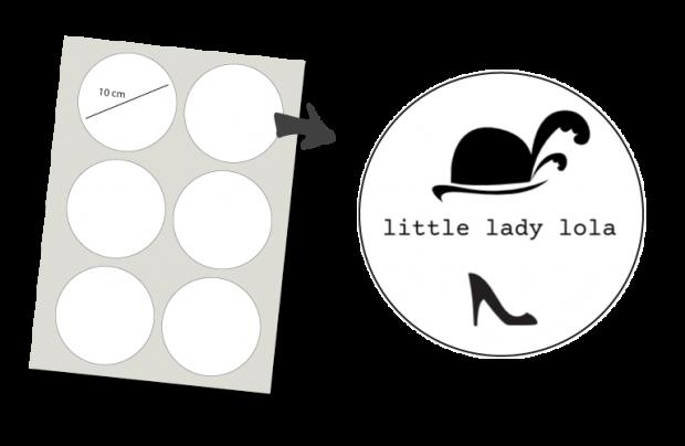 Stickers Rund 6 Stück: Little lady