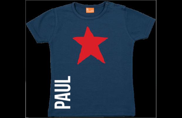 Baby t-shirt: Sterne und Namen