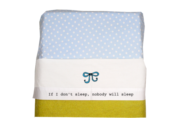Bettlaken (weiss): If I don't sleep
