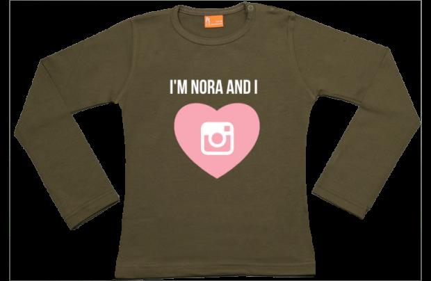 Mädchen T-Shirt Langarm: Instagram