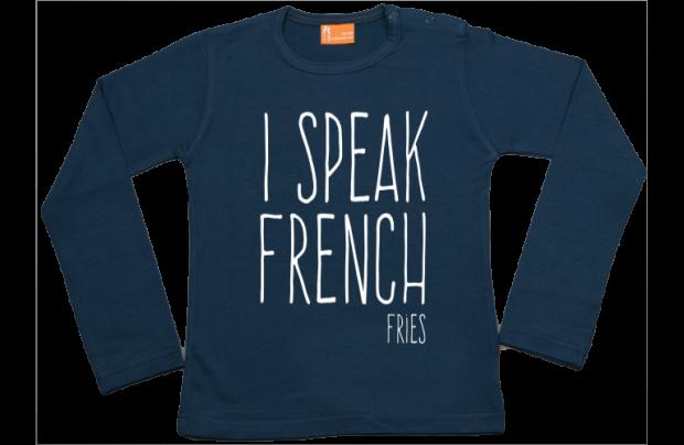 Mädchen T-Shirt Langarm: I speak French Fries