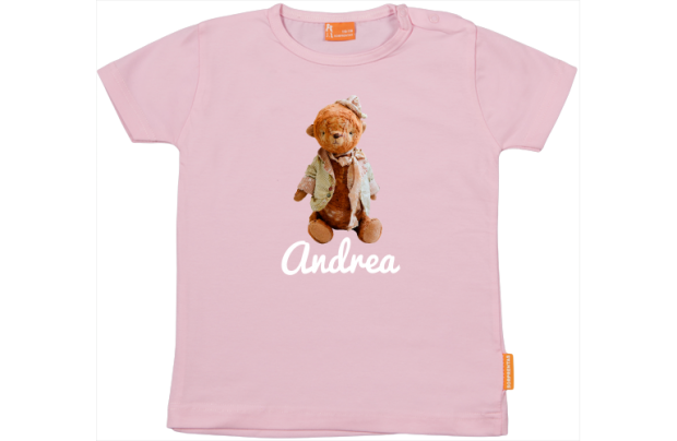 Mädchen T-Shirt: Teddybär mit Hut