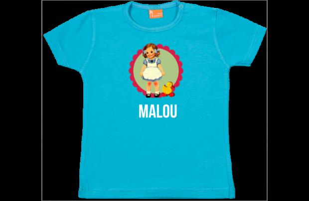 Mädchen T-Shirt: Retro mädchen mit Ente