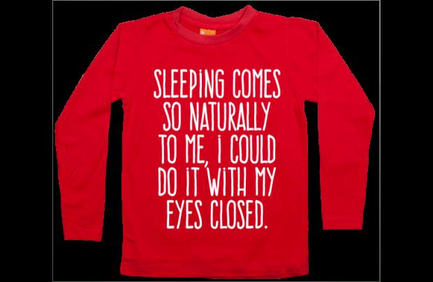 Jungen T-Shirt Langarm: Sleeping is easy