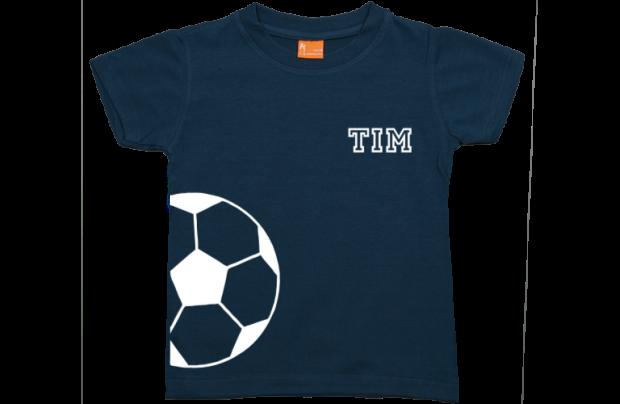 Jungen T-Shirt Kurzarm: Fußball und Namen