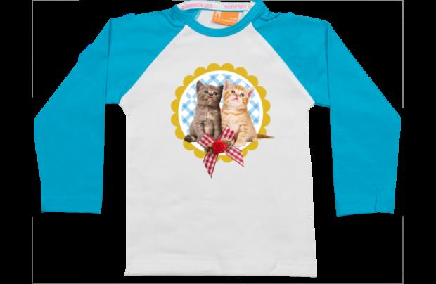 Raglan T-Shirt: zwei Kätzchen