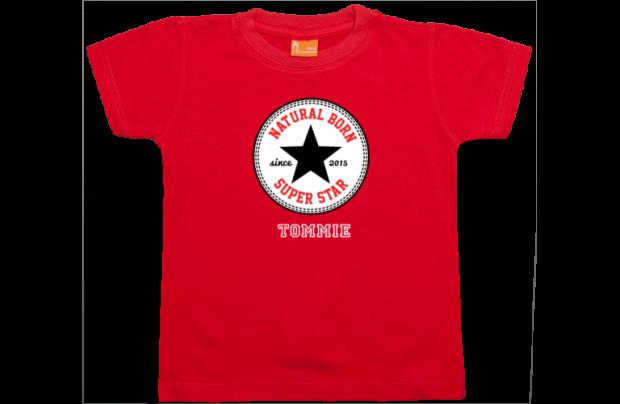 Jungen T-Shirt Kurzarm: Natural Born Superstar