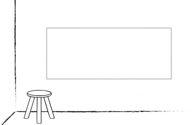 Wand/Tür sticker Breit: Selbst entwerfen!