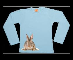 Mädchen T-Shirt Langarm: Hase