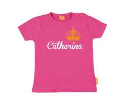 Mädchen T-Shirt: Namen mit Krone