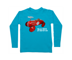 Jungen T-Shirt Langarm: Fuß Fahrrad