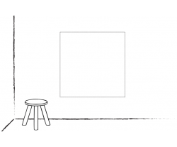 Wand/Tür sticker Quadrat: Selbst entwerfen!