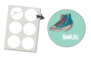 Stickers Rund 6 Stück: Sneaker