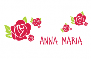 Wand/Tür sticker Breit: Rose