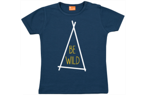 Baby t-shirt: Be Wild (zelt)