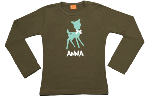 Mädchen T-Shirt Langarm: Reh