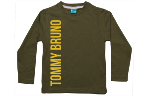 Jungen T-Shirt Langarm: Name vertikale