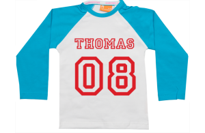 Raglan T-Shirt: Name & Nummer