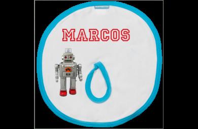 Schnuller Bib: Robot