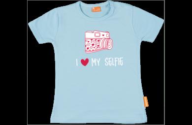 Mädchen T-Shirt: I love my selphie