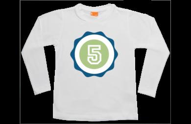 Jungen T-Shirt Langarm: Zahl oder Buchstaben