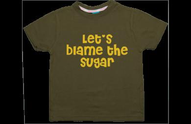 Jungen T-Shirt Kurzarm: Let's blame the sugar