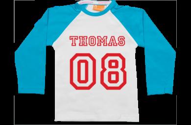 Raglan T-Shirt: Name & Nummer