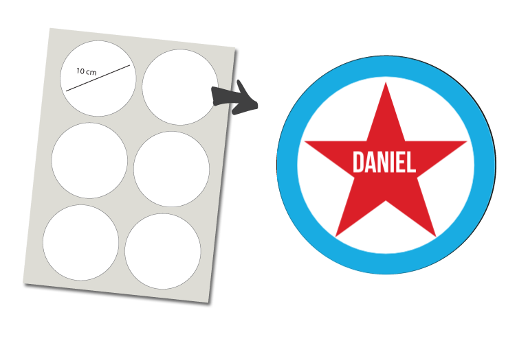 Sorprentas, Stickers Rond 6 stuks: Ster