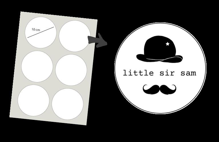 Sorprentas, Stickers Rond 6 stuks: Little Sir