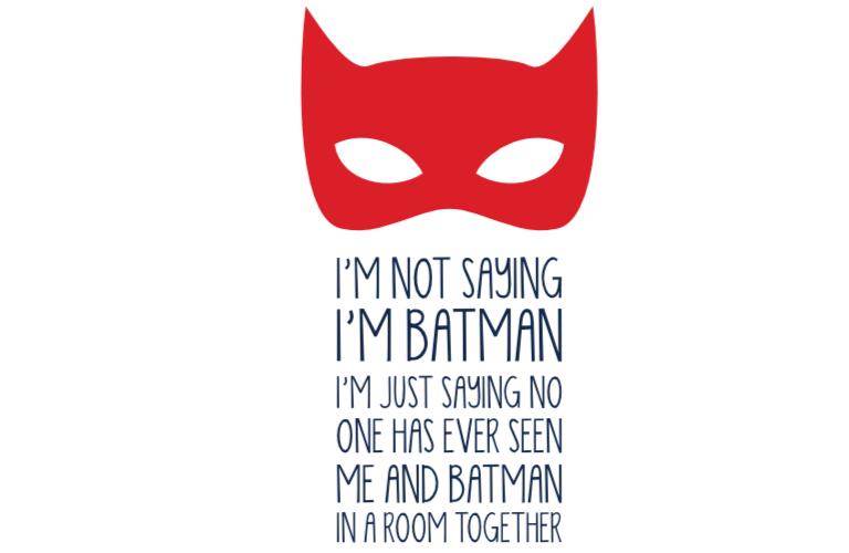 Muur-Deur sticker Vierkant: Batman