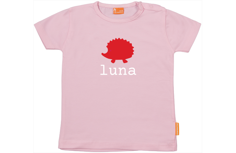 Personalized Name Toddler//Kids Raglan T-Shirt Im Luna World Hello