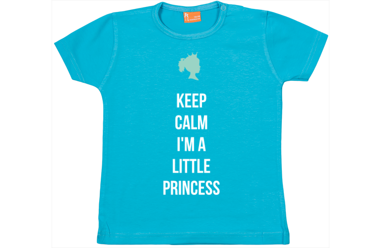 Baby t shirt Keep calm, I am a princess gaafste producten