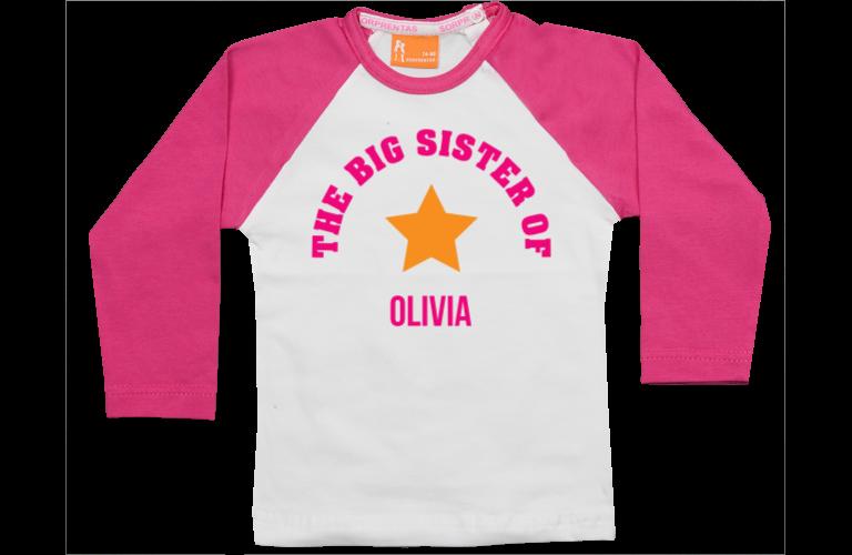 Sorprentas, Raglan t-shirt: Big Sister