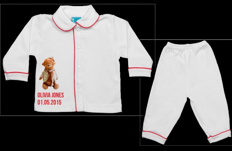 Pyjama: Knuffelbeertje hoedje