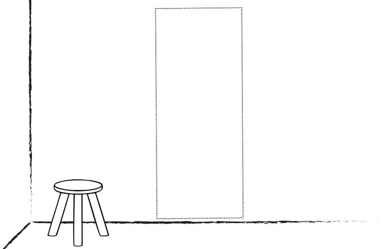 Muur-Deur sticker Lang: Ontwerp het zelf!