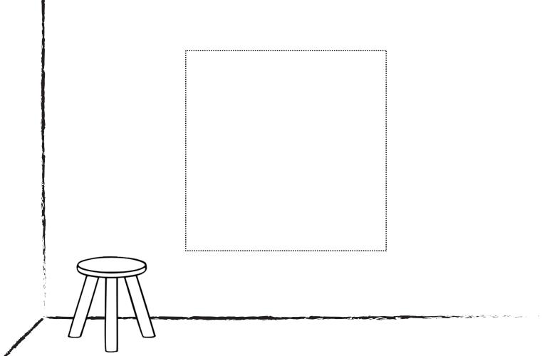 Muur-Deur sticker Vierkant: Ontwerp het zelf!